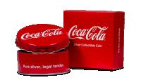 Minnemynt formet som Coca Cola kork