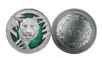 Tiger sølvmynt advers og revers