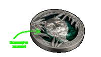 Tiger sølvmynt med ultrahøyt relieff