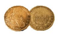 8 escudos 1792 - 1808 fra Colombia - en av verdens største gullmynter!