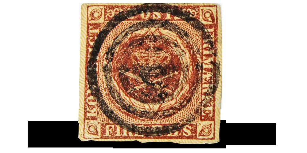 Nordens aller første frimerke - kun 295 kroner