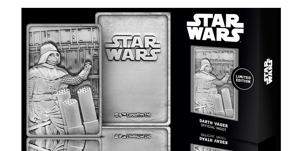 Darth Vader fra Star Wars på barre belagt med sølv