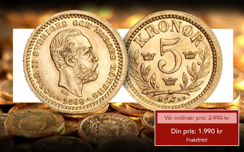 Unionstidens aller første 5-krone i gull!