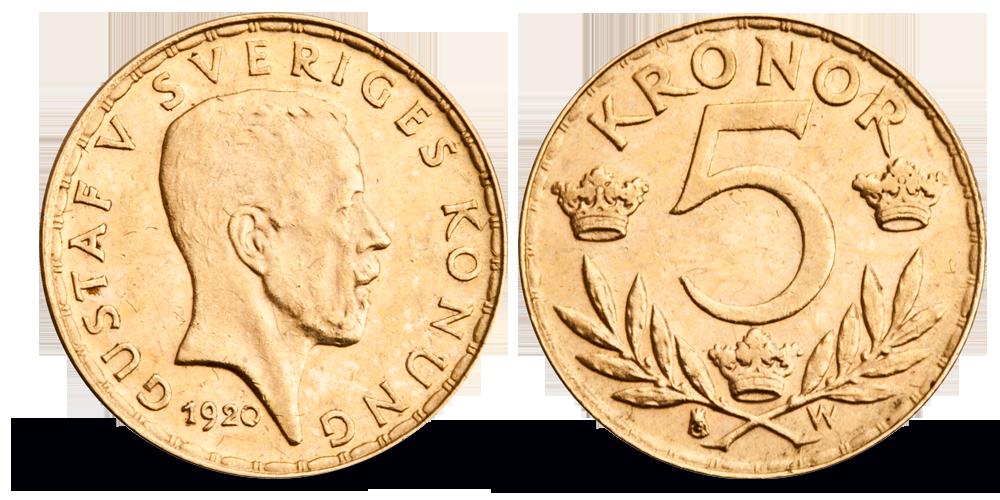Skandinavias siste 5-krone i gull