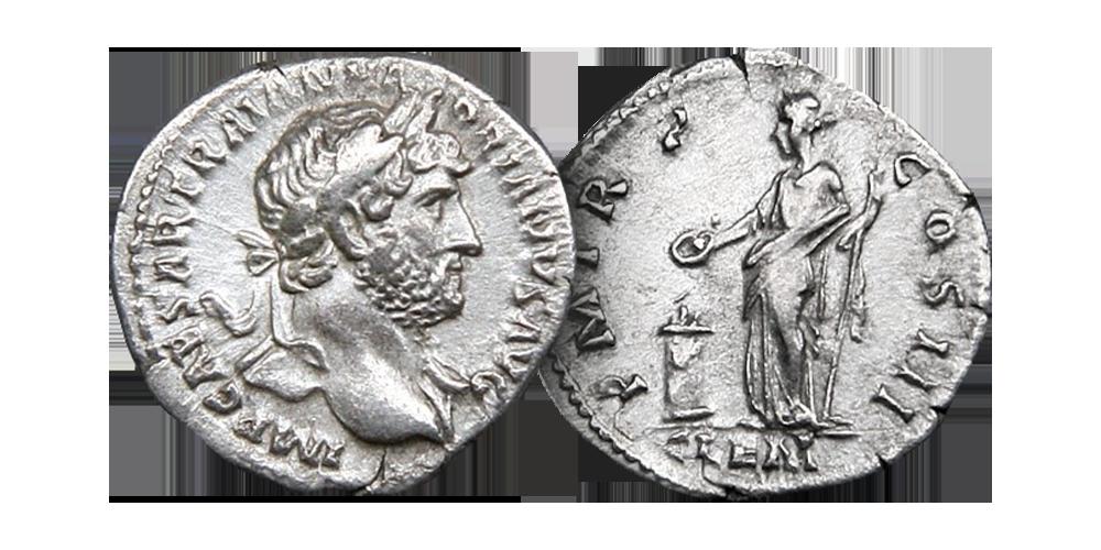 Nesten 1900 år gammel romersk sølvmynt