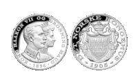 Haakon VII og Maud - Det Norske Kongehus i sølv