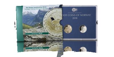 Det Norske Proofsett 2018 fra Myntverket