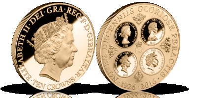 Storslått minnemynt hedrer Dronning Elizabeth II store jubileum!