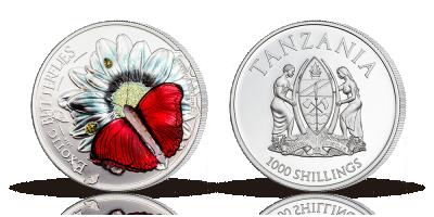 Spennende myntutgivelse:  Eksotisk sommerfugl i 3D på sølvmynt!