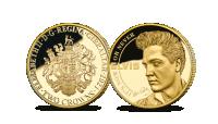 Elvis prestley minnemynt i 24 karat gull