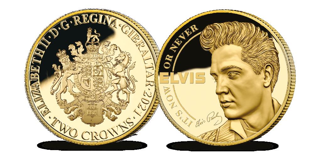 Elvis 9 karat gullminnemynt