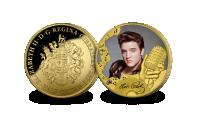 Elvis gullbelagt spesialutgave av minnemynten