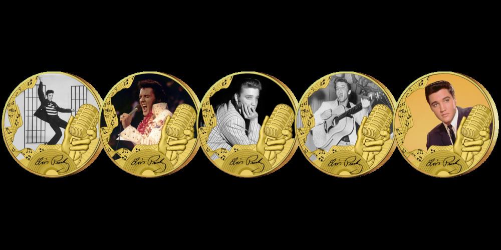 5 myntsettet til Elvis Presley