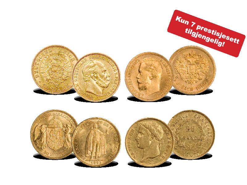 4 historiske gullmynter fra Europas store herskere!