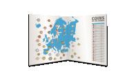 Myntsett med Europas mynter