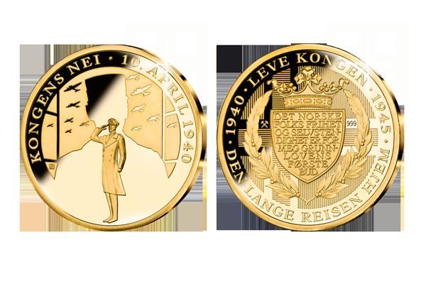 Verdens første minnemedalje i rettferdig gull: Kongens Nei