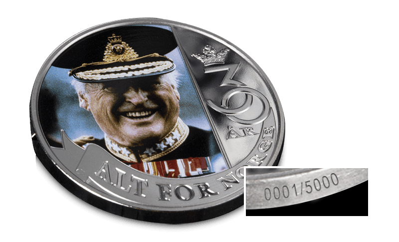 Kong Olav V nummerert minnemedalje