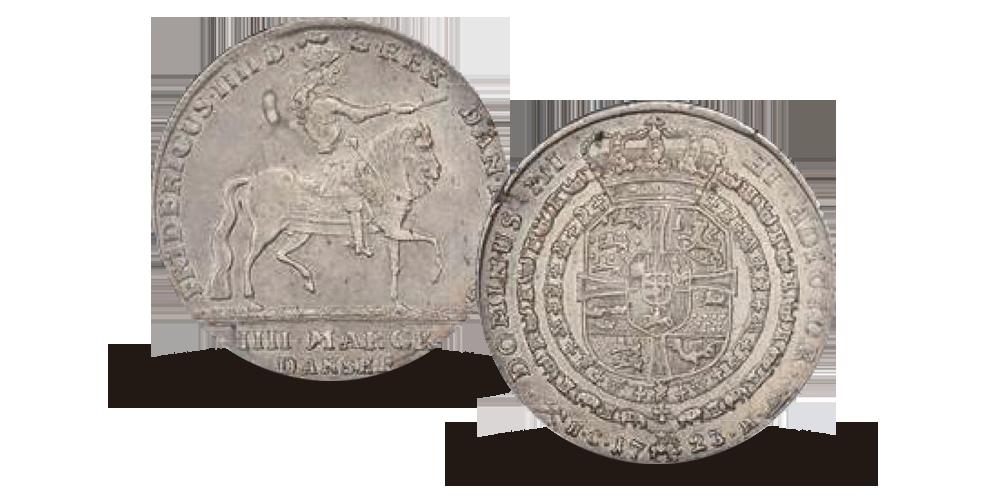 4 mark ryttermark fra 1723