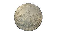 Revers side av Fredrik den store sølvmynt