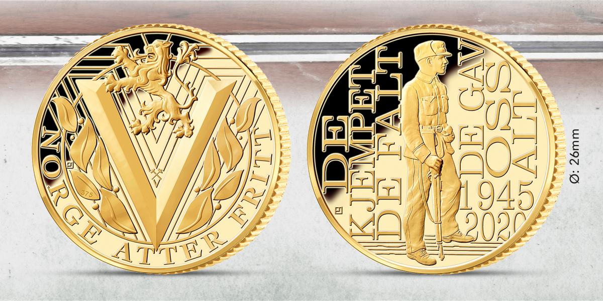 Frigjøringsmedalje i 9 karat gull
