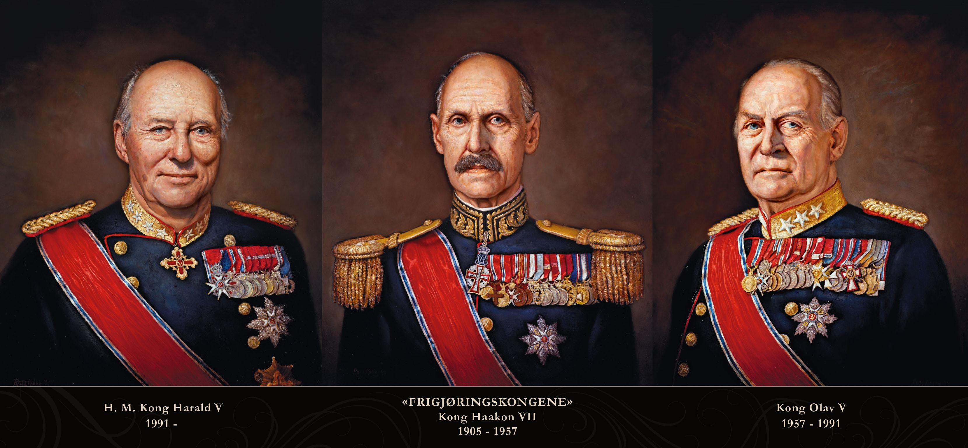 Frigjøringskongene - de offisielle kongeportrettene