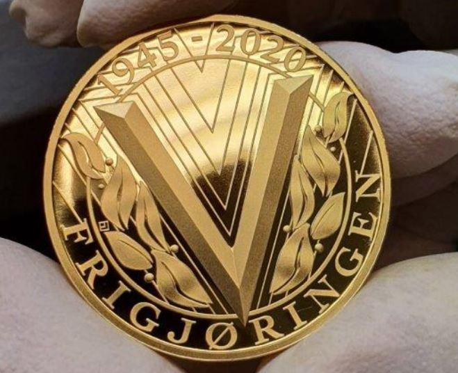 Frigjøringsmedaljens praktutgave i gull