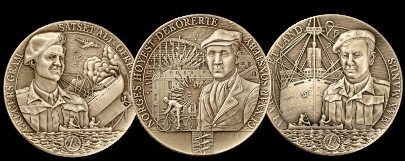 Tre nye helter hedres på massiv bronse