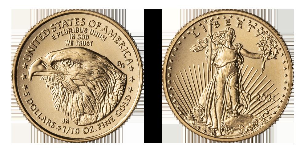 Gullmynten med design fra 2021