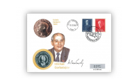 Myntbrev 1 Gorbarsjov mottar Nobels fredspris