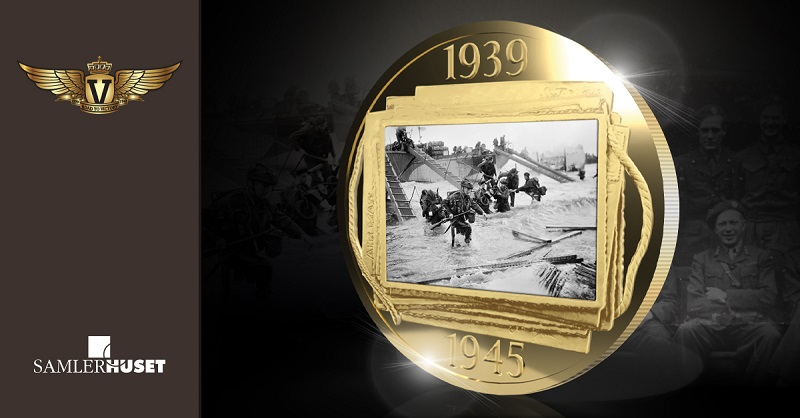 Verden største landgangsoperasjon D-dagen på gullbelagt minnemynt!