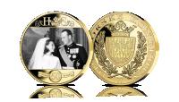 Kong Harald og Dronning Sonja gullbryllupsmedalje