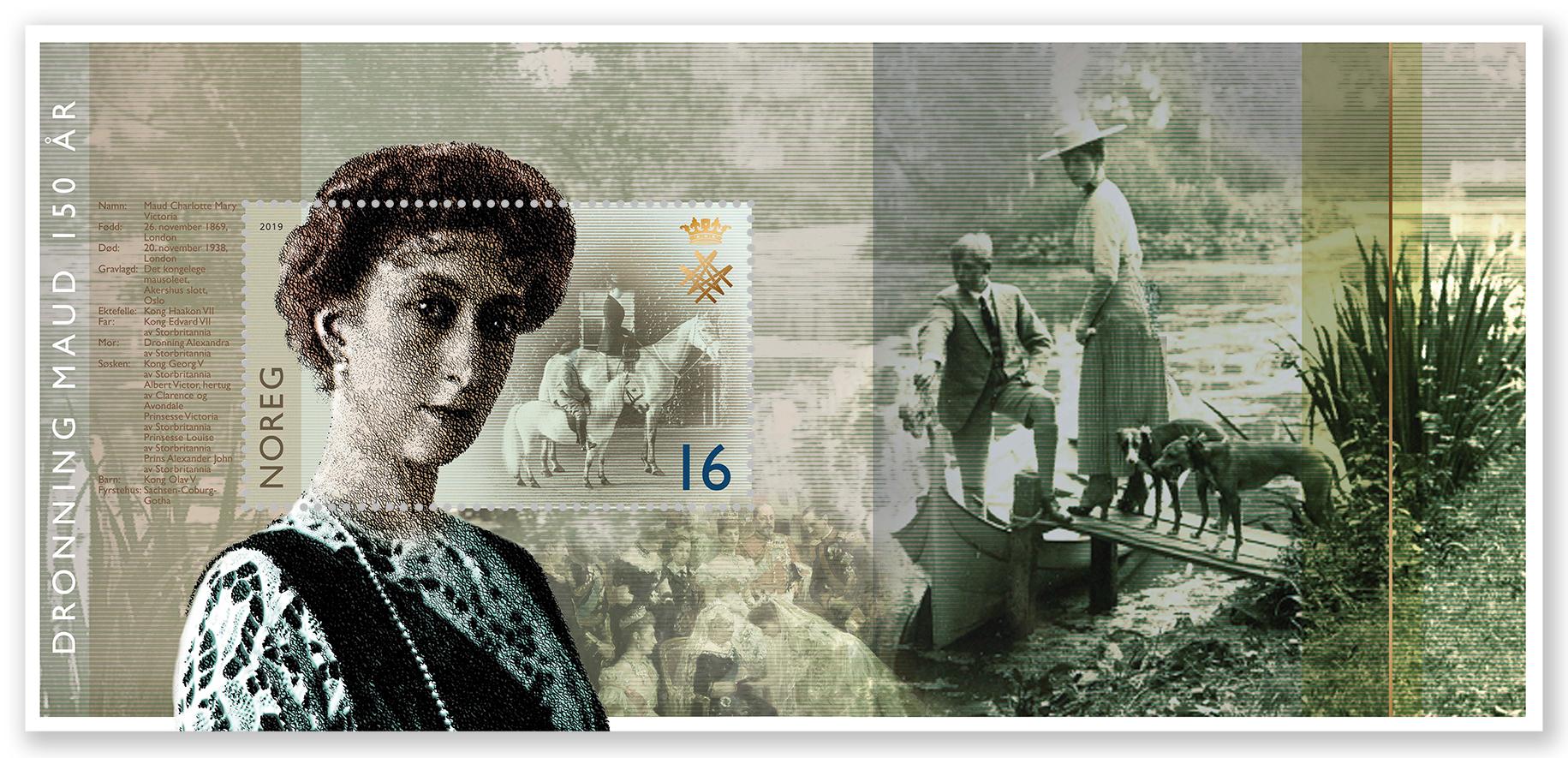 Postens miniatyrark utgitt til 150-årsjubileet