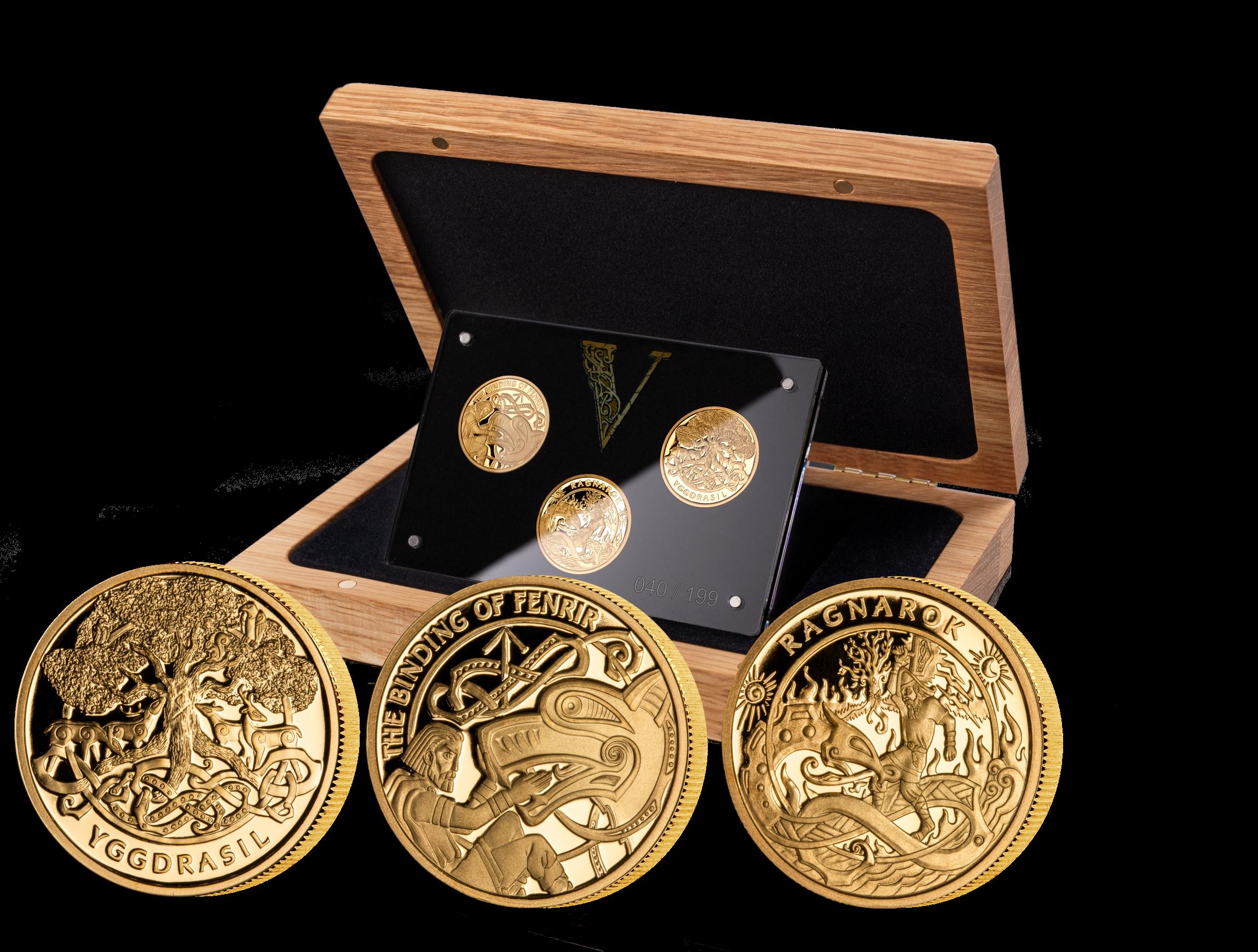 Spektakulære vikingmynter i 9 karat gull
