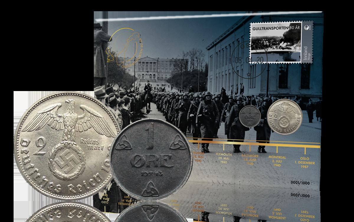 Gulltransporten 80 år markeres med myntbrev