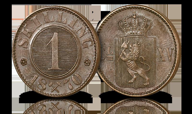 Norges aller siste 1-skilling fra 1870