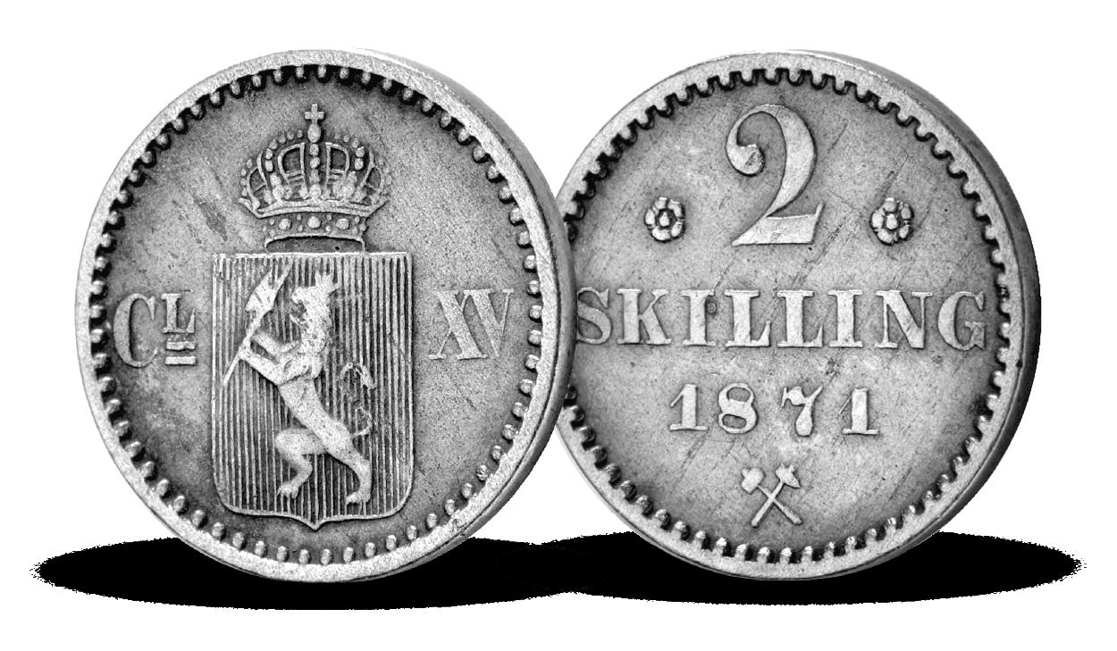 Norges siste 2-skilling i sølv til kun 249 kroner!
