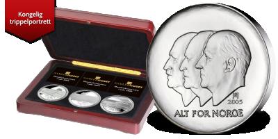 Hundreårsmyntene i sølv 2003, 2004 og 2005