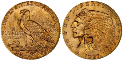 Indian Head 2,5 dollar - In Gold We Trust