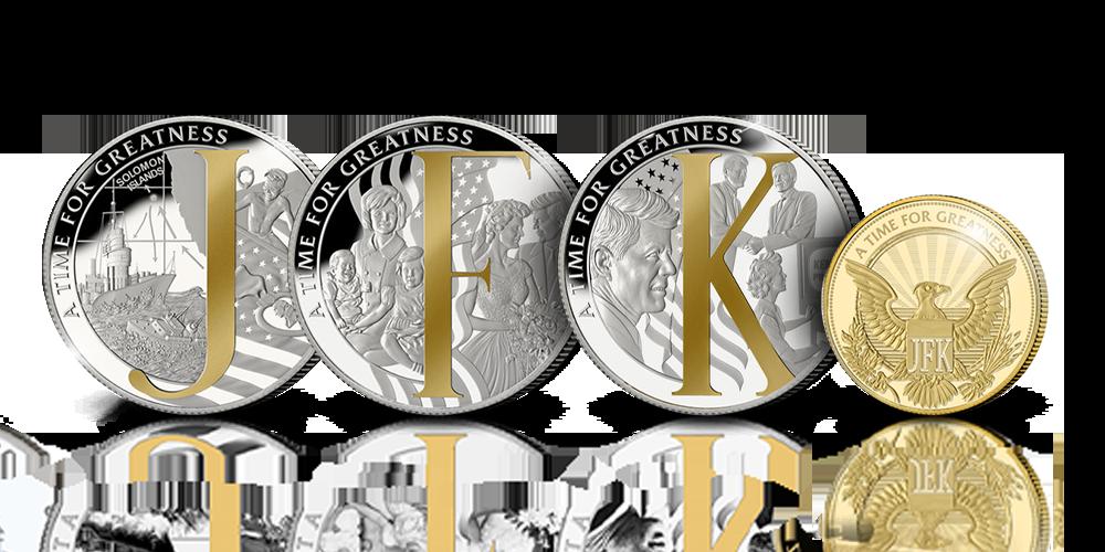 4-myntsett til minne om Kennedy