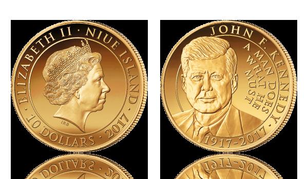 John F. Kennedy gullmynt 2017