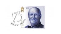 Stemplet på Kong Haralds 75-årsdag