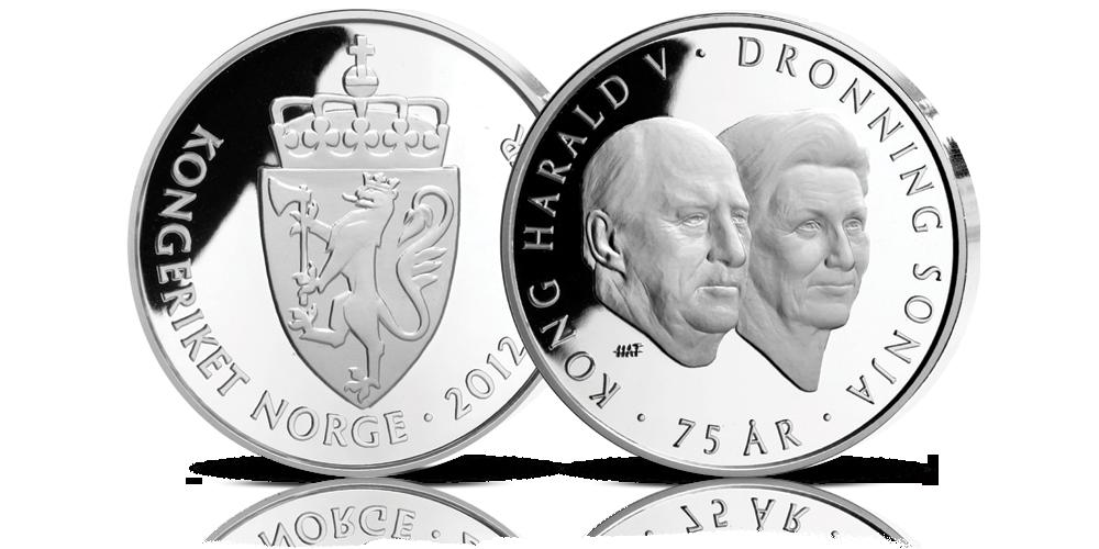Kong Harald 75 år minnemynt