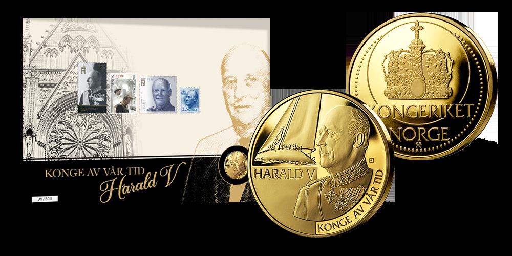 Ekte gullmedalje fra Det Norske Myntverket