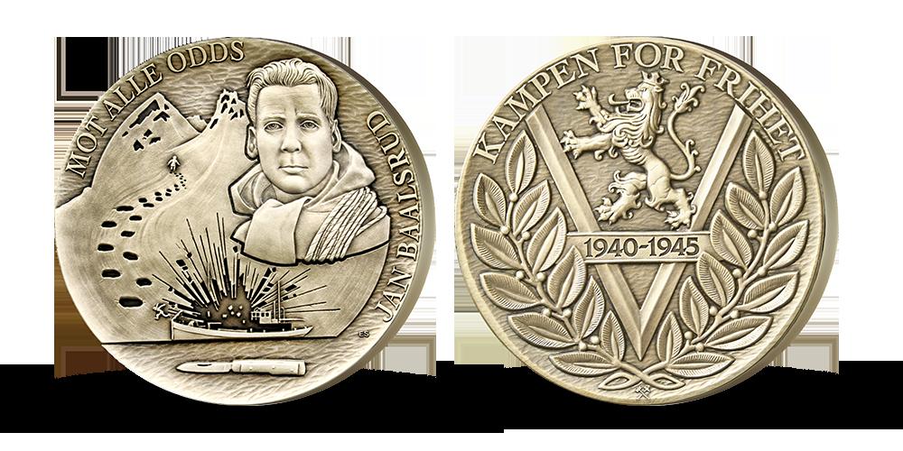 Motstandsmannen Jan Baalsrud hedres på gigantmedalje
