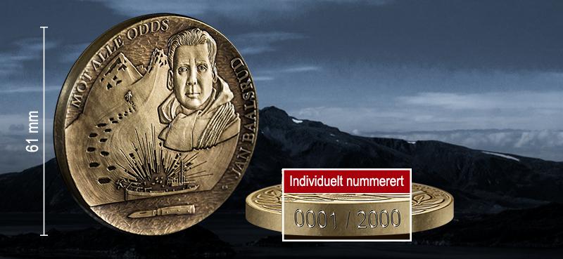 Jan Baalsrud hedres på gigantmedalje i bronse