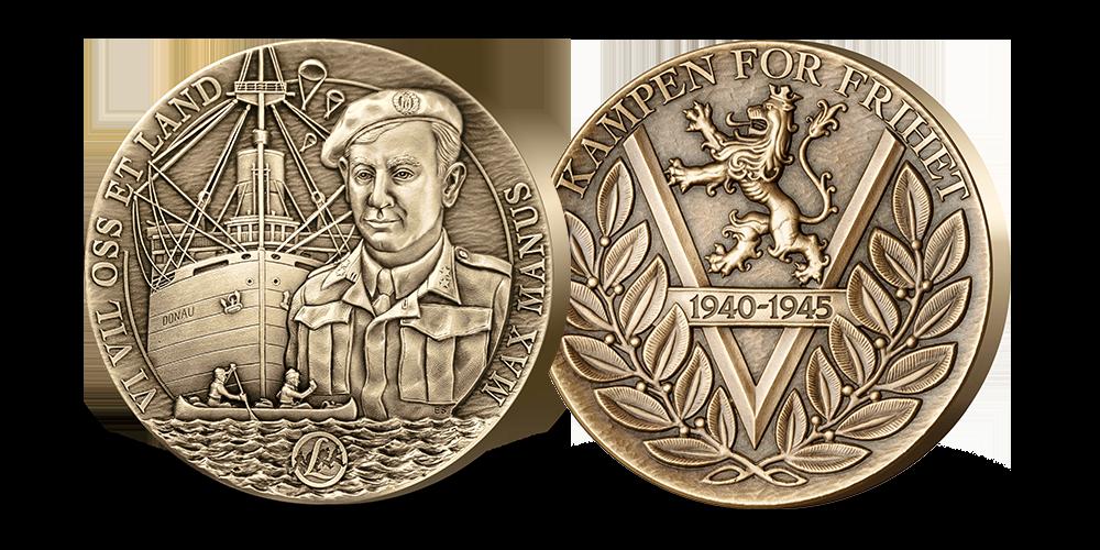 Motstandshelten Max Manus hedret på bronsemedalje
