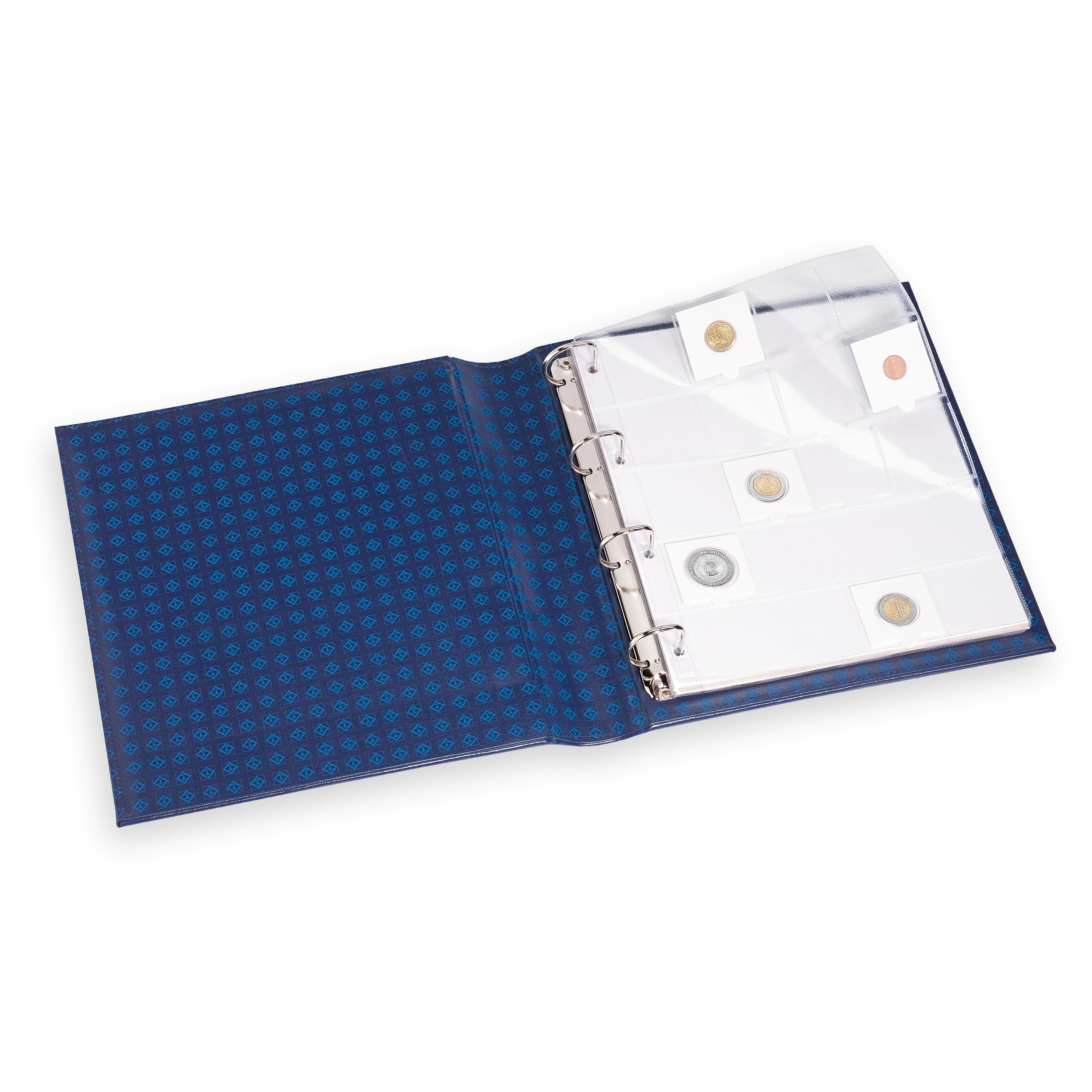 Ark til oppbevaring av myntrammer - pakke med 5 ark