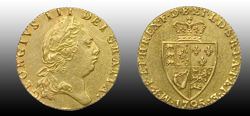 Den siste engelske gullmynten før Sovereign overtok - kun 8 tilgjengelig!