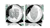 200 kr sølvmynt Kongeparet 75 år 2012