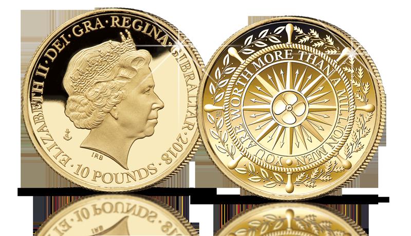 En varig hyllest til krigsseilerne i 24 karat rent gull